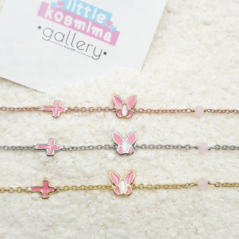 buttefly bracelet light pink6
