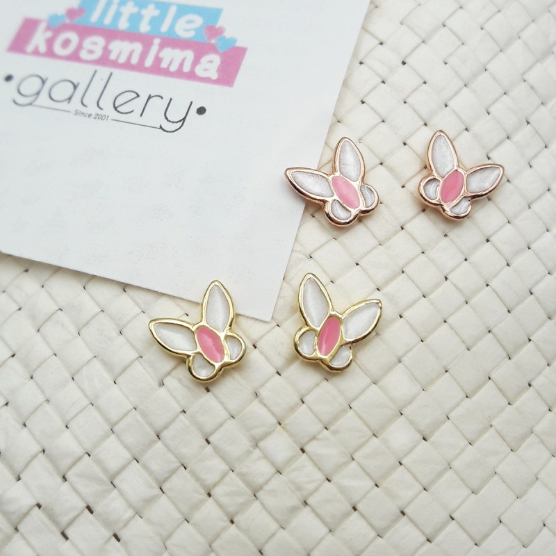 buttefly earrings white