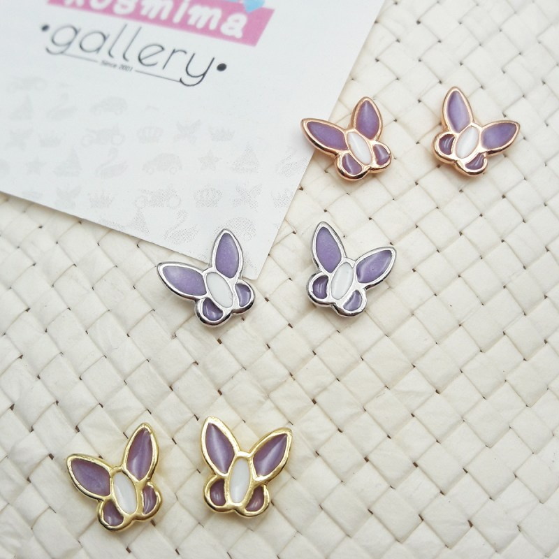 butterfly earrings purple