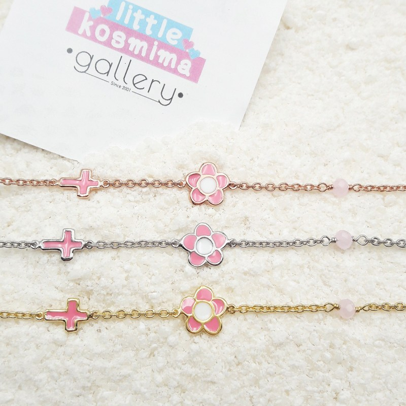 flower bracelet light pink