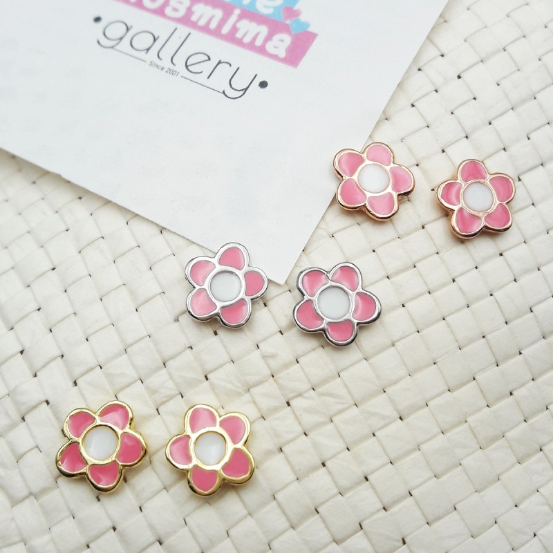 flower earrings light pink